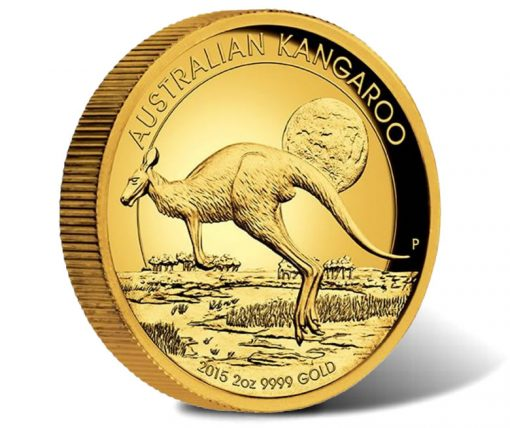 2015 Kangaroo High Relief 2 oz Gold Proof Coin