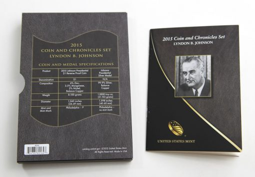 2015 Lyndon B. Johnson Coin and Chronicles Set, Specifications and Booklet