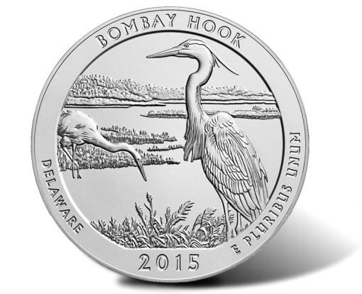 2015-P Bombay Hook Five Ounce Silver Uncirculated Coin