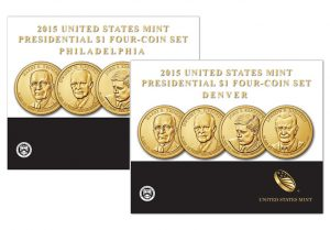 2015 P&D Presidential $1 Four-Coin Sets