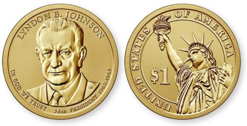 2015-P Reverse Proof Lyndon B. Johnson Presidential $1 Coin