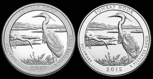 2015 Proof and Uncirculated Bombay Hook Quarters