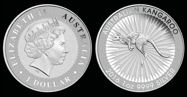 2016 Australian Kangaroo Silver Bullion Coin