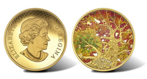 2016 Maple of Canopy Kaleidoscope of Color 2 oz Gold Coin