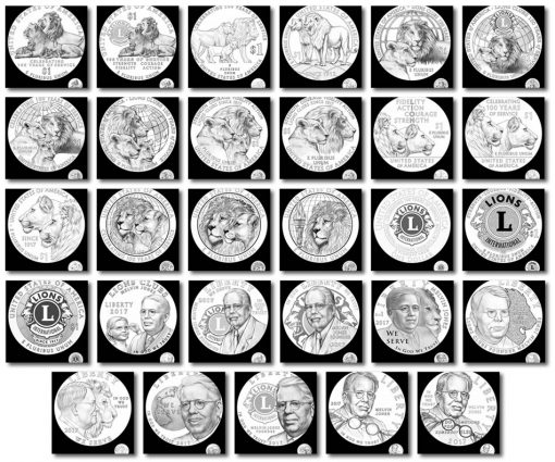 2017 Lions Clubs Commemorative Coin Design Candidates