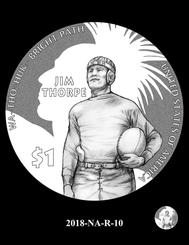 Proof Native American Dollars Native American $1 Jim Thorpe 2018 S