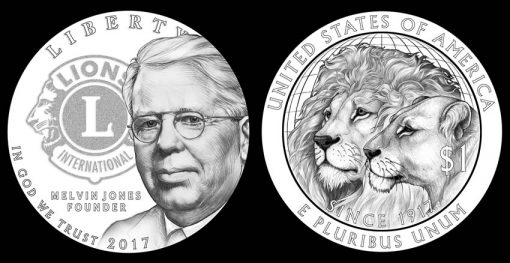 CCAC Recommended 2017 Lions Clubs Commemorative Coin Designs