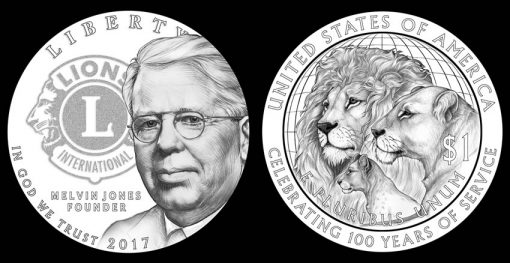 CFA Recommended 2017 Lions Clubs Commemorative Coin Designs