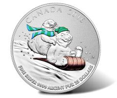 2016 $25 Winter Fun Silver Coin for $25