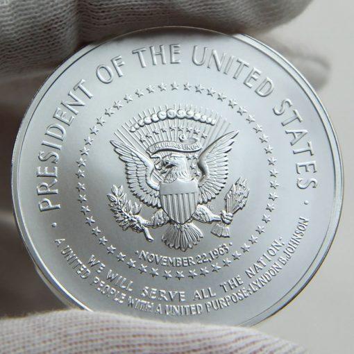Lyndon B. Johnson Silver Medal, Reverse