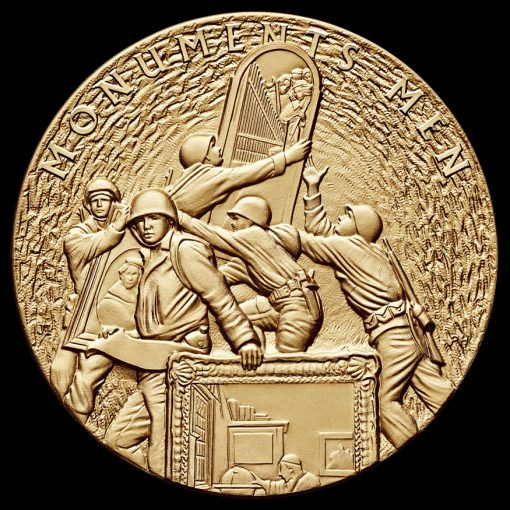 Monuments Men Bronze Medal, Obverse