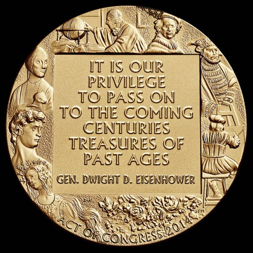 Monuments Men Bronze Medal, Reverse