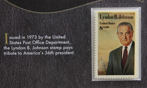 Photo Lyndon B. Johnson 1973 8c Stamp