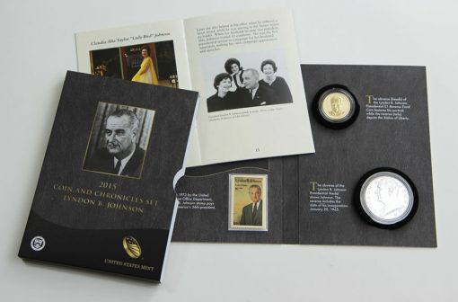 Photo of 2015 Lyndon B. Johnson Coin and Chronicles Set
