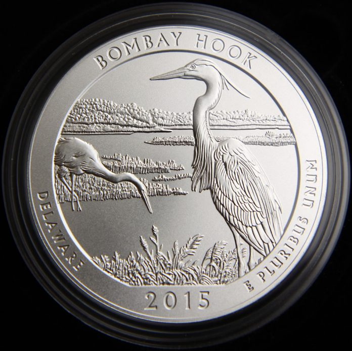 Photo of 2015-P Bombay Hook Five Ounce Silver Uncirculated Coin
