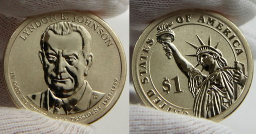 Photo of 2015-P Reverse Proof Lyndon B. Johnson Presidential $1 Coin