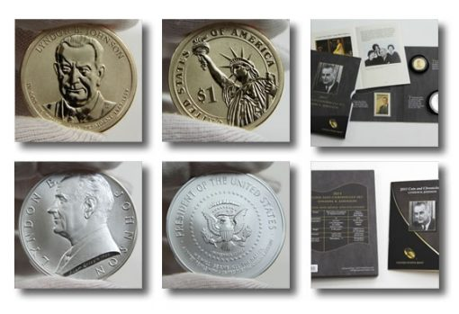 Photos of Lyndon B. Johnson Coin and Chronicles Set