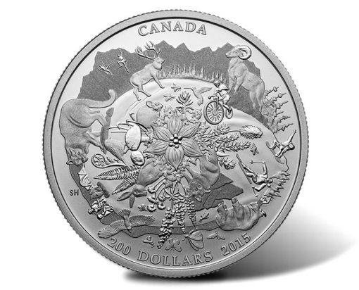 2015 $200 Canada's Rugged Mountains Silver Coin