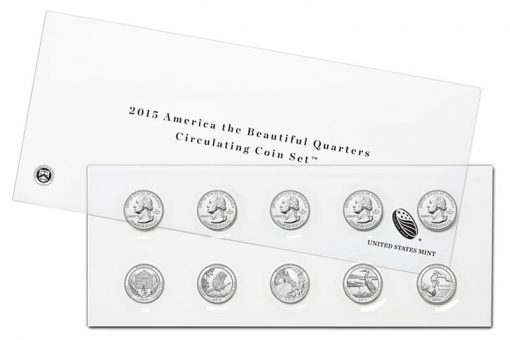 2015 America the Beautiful Quarters Circulating Coin Set