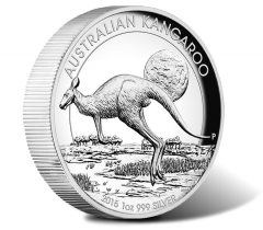 2015 Australian Kangaroo 1 oz Silver High Relief Proof Coin