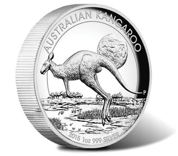 2015 Australian Kangaroo 1 oz Silver High Relief Proof Coin