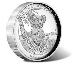 2015 Australian Koala 1 oz Silver High Relief Proof Coin