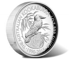 2015 Australian Kookaburra 1 oz Silver High Relief Proof Coin
