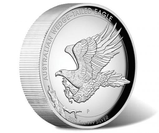2015 Australian Wedge-Tailed Eagle 5 oz Silver Proof High Relief Coin