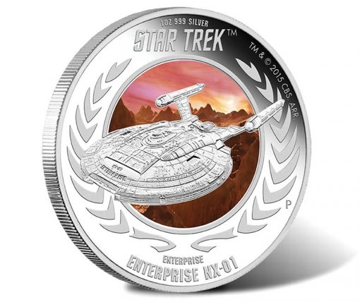 2015 Enterprise NX-01 Silver Coin