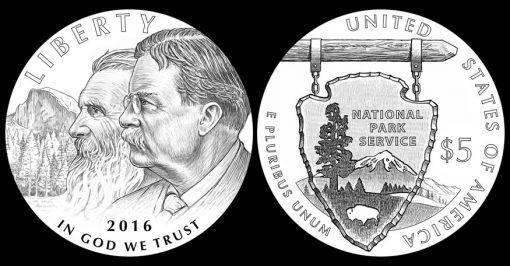 2016 $5 National Park Service Commemorative Gold Coin Designs