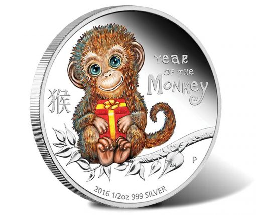 2016 50c Baby Monkey Silver Proof Coin