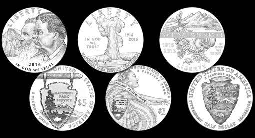 2016 National Park Service 100th Anniversary Commemorative Coin Designs
