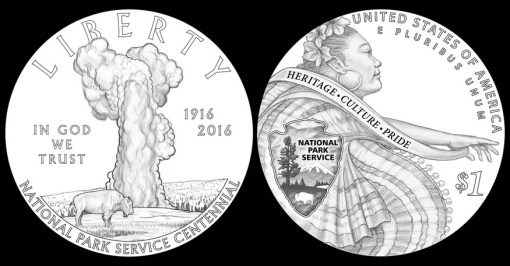 2016 National Park Service Silver Dollar Designs