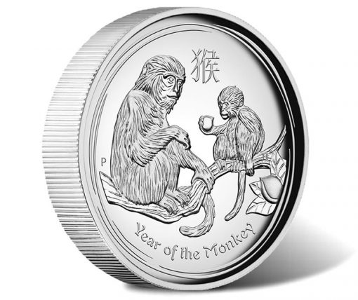 2016 Year of the Monkey 1 oz Silver Proof High Relief Coin