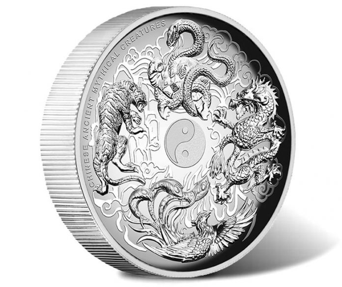 Chinese Ancient Mythical Creatures 2016 1oz Silver Proof High Relief Coin, Obverse