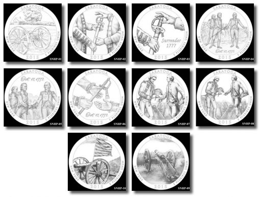 Design candidates for Saratoga National Historical Park Quarter