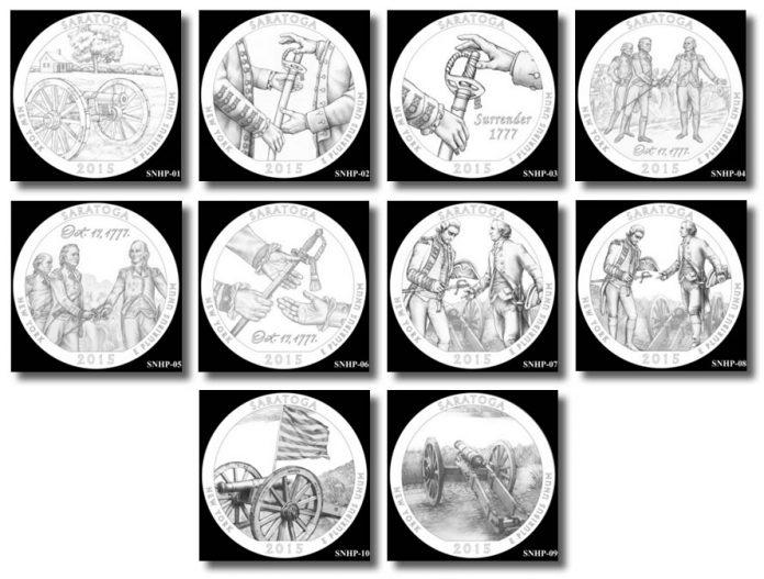 Design candidates for Saratoga National Historical Park Quarter