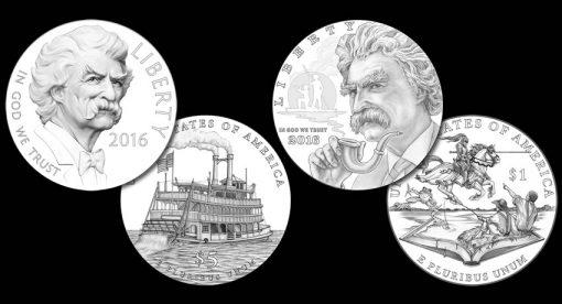 Designs for 2016 Mark Twain Commemorative Coins