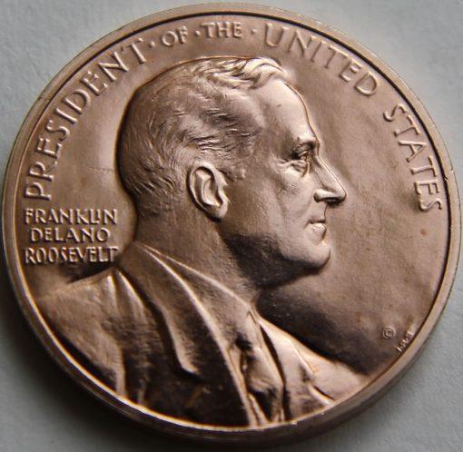 Franklin D. Roosevelt Bronze Medal, Obverse