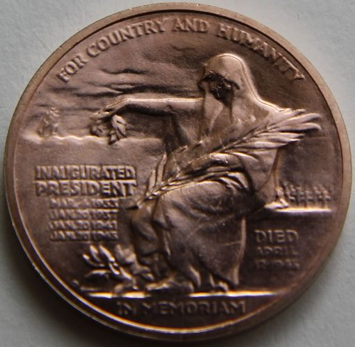 Franklin D. Roosevelt Bronze Medal, Reverse