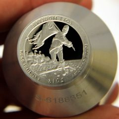 Proof die for 2016-S Fort Moultrie Quarter, a