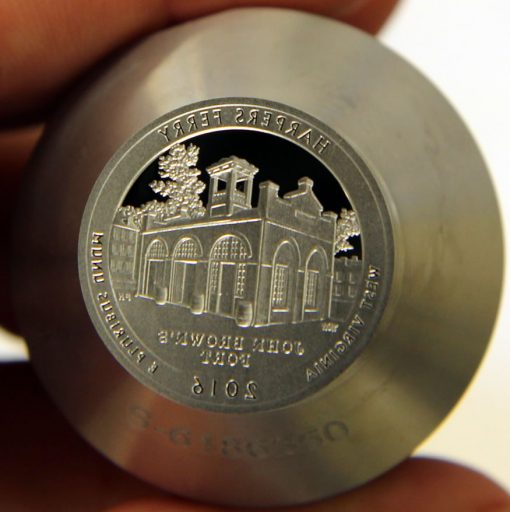 Proof die for 2016-S Proof Harpers Ferry National Historical Park Quarter