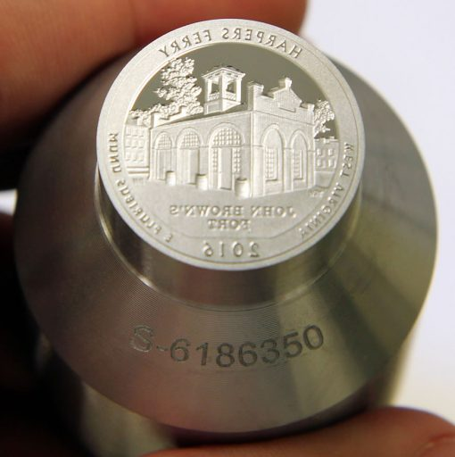 Proof die for 2016-S Proof Harpers Ferry National Historical Park Quarter, c