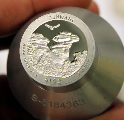 Proof die for 2016-S Proof Shawnee National Forest Quarter,a