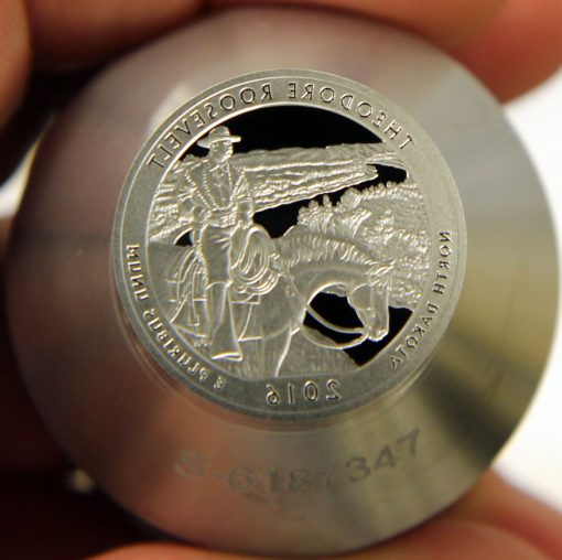 Proof die for 2016-S Proof Theodore Roosevelt National Park Park Quarter, a