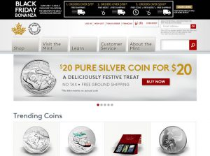 Royal Canadian Mint website special