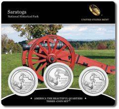 Three-Coin Set of 2015 Saratoga Quarters