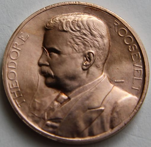 Theodore Roosevelt Bronze Medal, Obverse