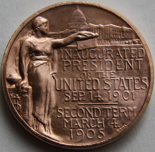 Theodore Roosevelt Bronze Medal, Reverse