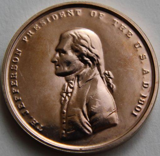 Thomas Jefferson Bronze Medal, Obverse